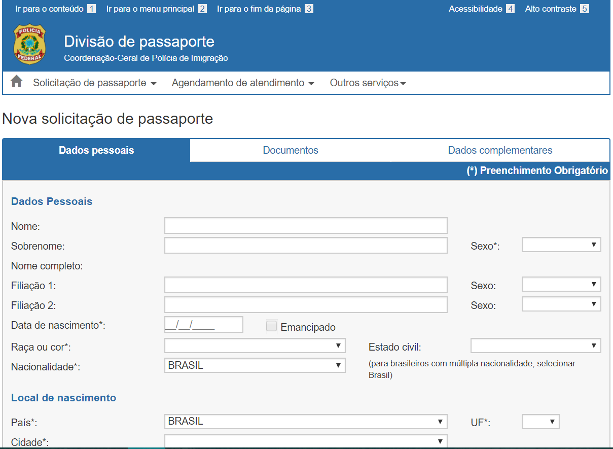 Tirar passaporte Brasil
