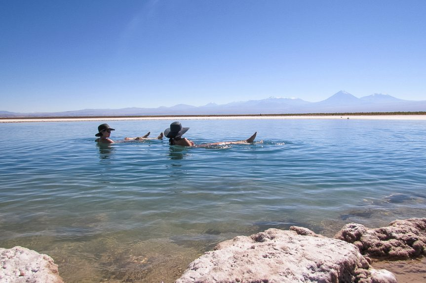 Laguna Cejar no Deserto do Atacama
