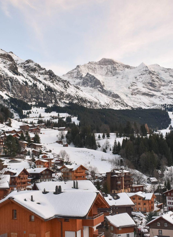 Wengen e Männlichen na Suíça