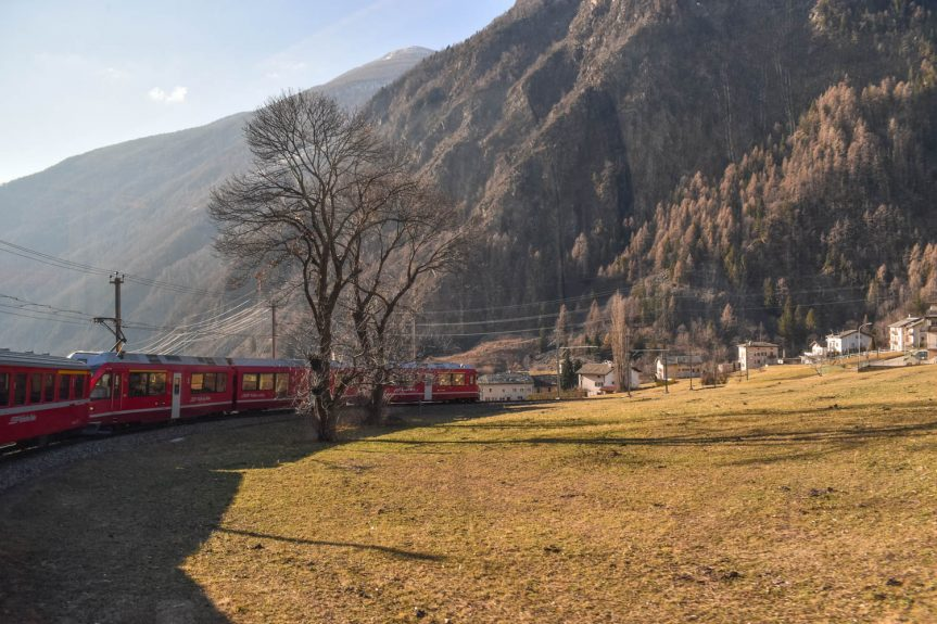 Viajar de trem na Suíça