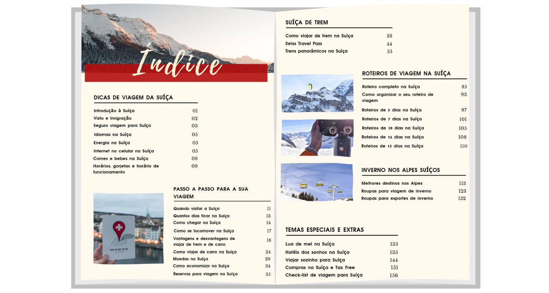 """Ebook """"Guia de viagem da Suíça"""""""
