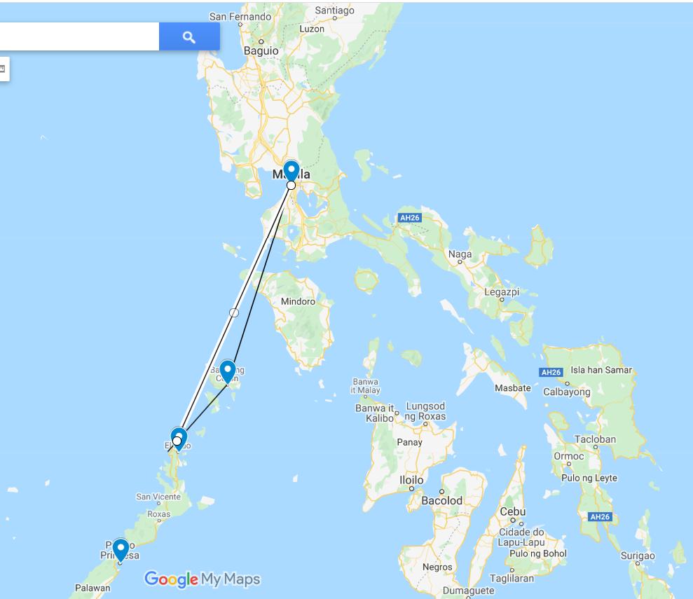 Roteiro de viagem em Palawan