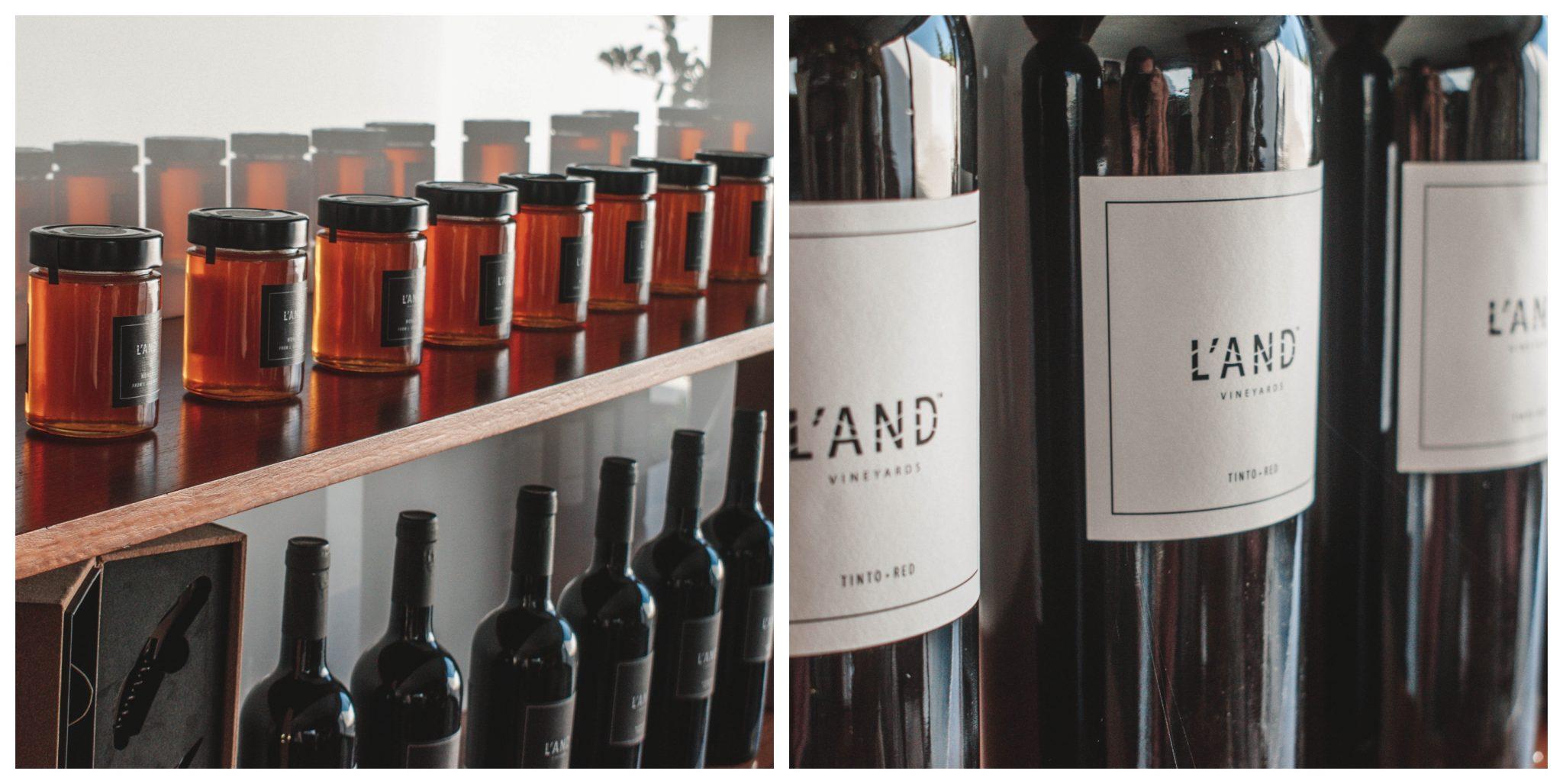 Vinhos do L'and Vineyards no Alentejo