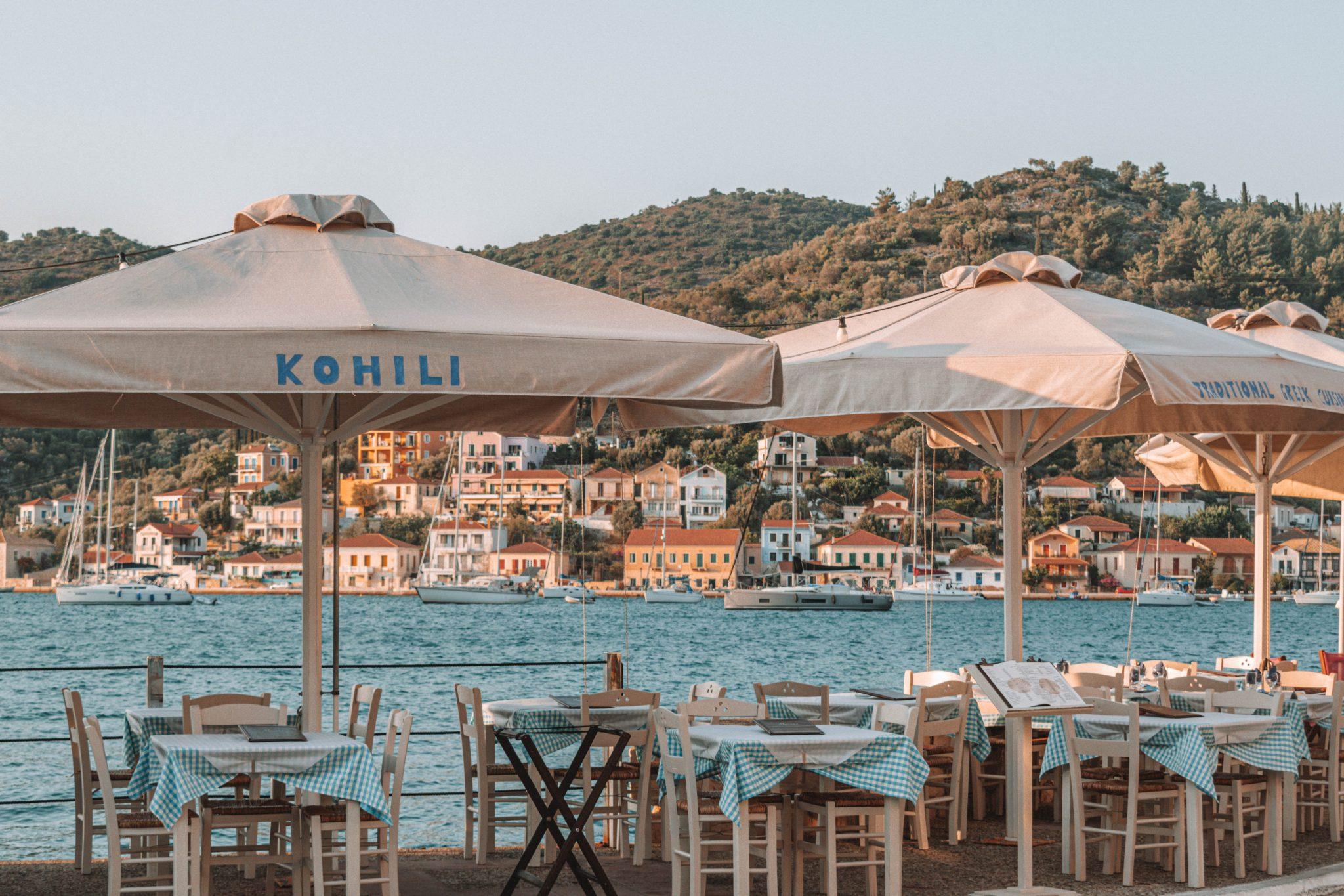 Restaurantes em Ithaca Grécia