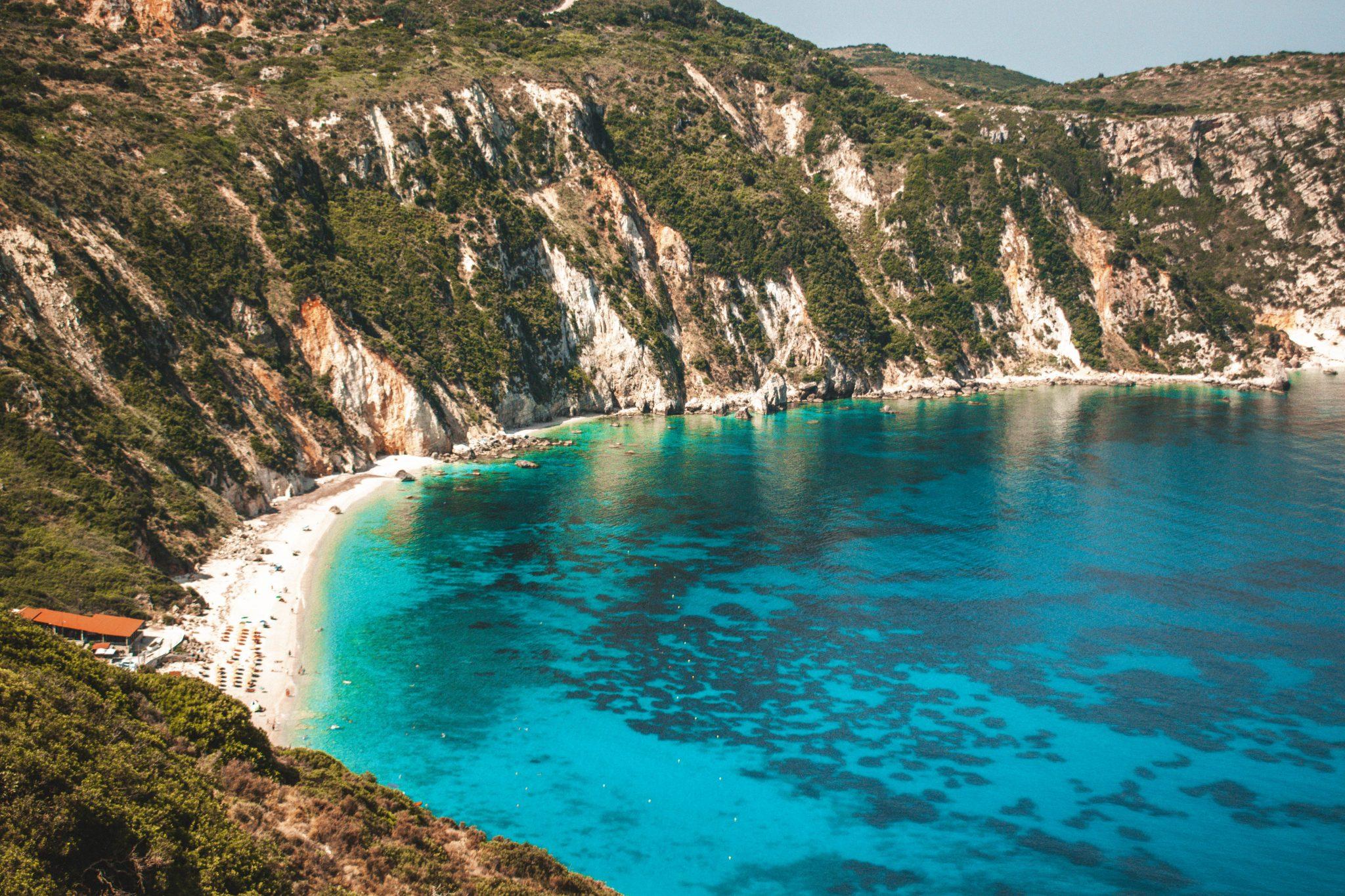 Praias na Kefalonia Grécia
