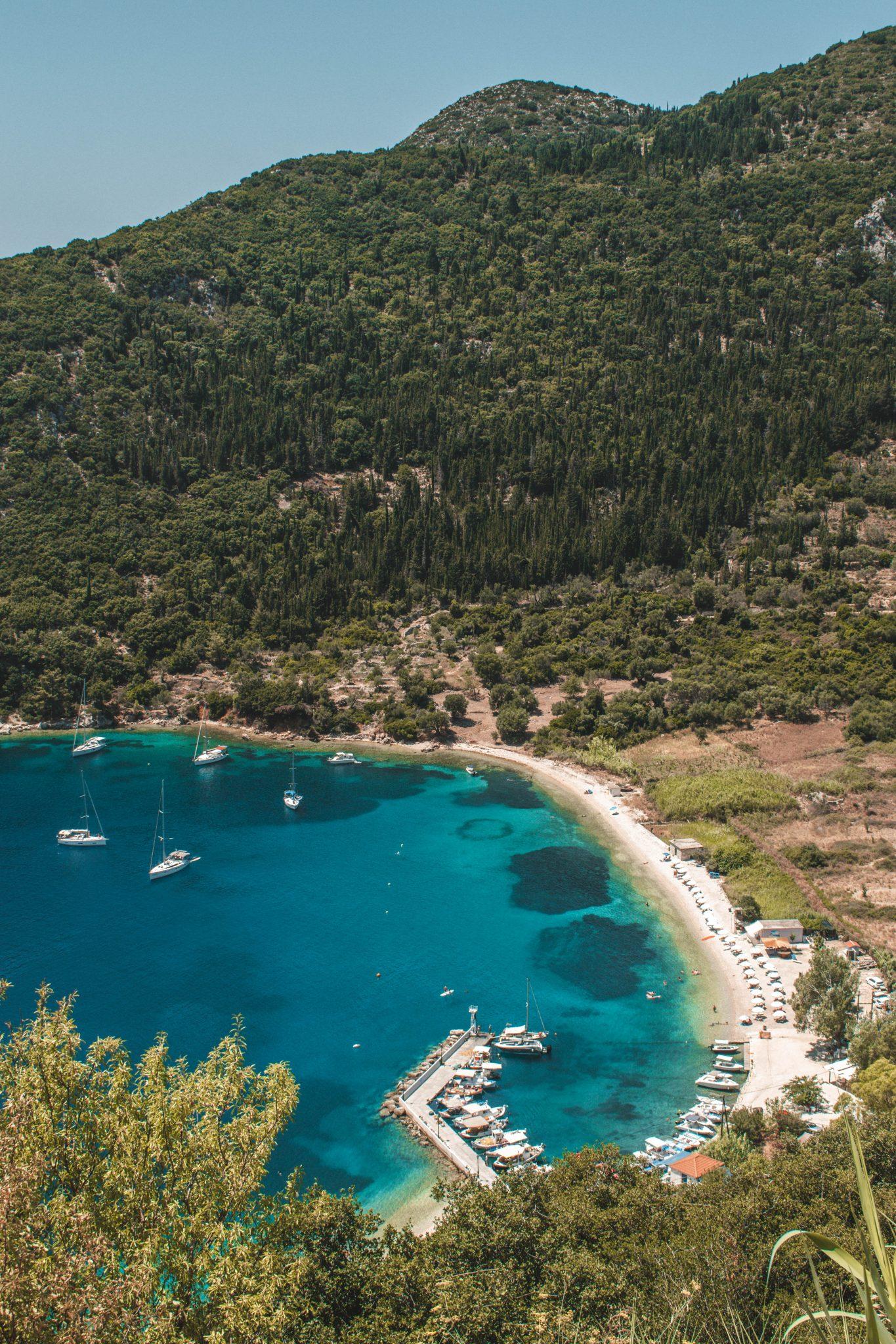 Praias em Ithaca Grécia